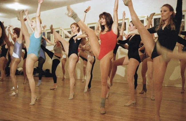 Rockette want-a-bees' go through some dance steps during open auditions for the dance troupe at New York's Radio City Music Hall on March 11, 1993. Over 100 women showed up to demonstrate their tap, jazz, ballet and modern dance techniques in hopes of landing one of the 85 spots that make up the group.