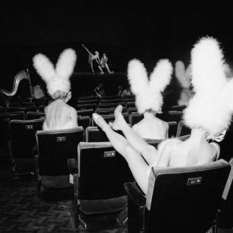 1966: Bunny-Eared Rockettes Rehearse The Easter Show at New York''s Radio City Music Hall