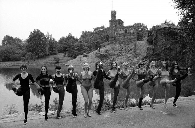 The Rockette's rehearsing in New York's Central Park on Dec. 7, 1982.
