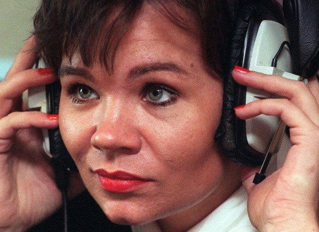Mandy Allwood taking part in a live discussion programme on London's Talk Radio on 10.10.96. Ms Allwood spoke about losing the octuplets she was expecting.