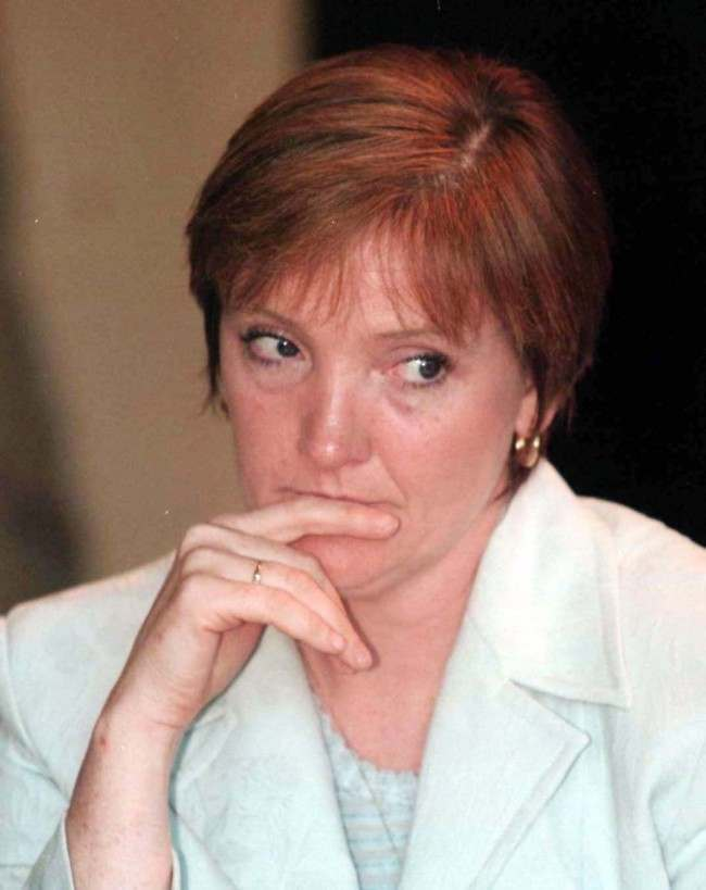 File dated 15/5/98 of Bernadette Sands-McKevitt, sister of hunger striker Bobby Sands and member of the 32 County Sovereignty Committee. Ms Sands McKevitt, partner of Michael McKevitt, the man reputed to lead the Real IRA hardline terrrorist group, appeared live on radio today (Weds) to condemn the mass murder bomb attack on Omagh. Photo by Brian Little/PA