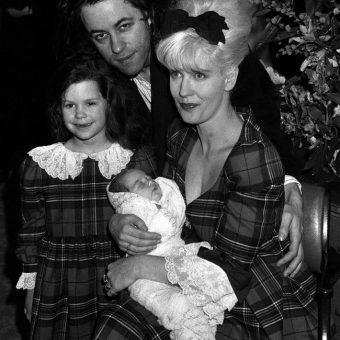Peaches Geldof: Bob Geldof And His Wife TV Presenter Paula Yates Show Off Their Newborn Daughter In 1989