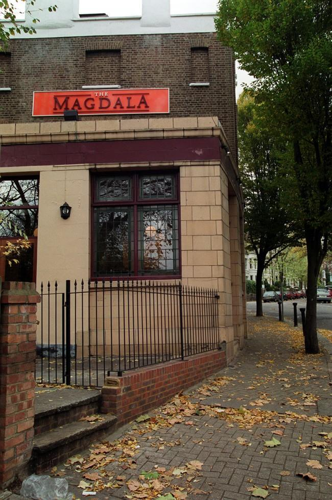 The Magdala Tavern, Hampstead, North London, where Ruth Ellis shot her lover David Blakely at point blank range on Easter Sunday 1955. Ruth Ellis pleaded guilty to the murder and became the last woman in Britain to be hanged on July 13th 1955. * Bullet holes can still be seen in the walls of the pub.