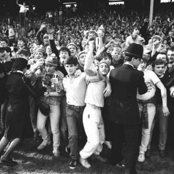 1984: Everton Fans Invade The Arsenal Pitch As Southampton Are Beaten In The FA Cup
