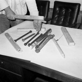 1978: Weapons Seized Before West Ham Against Millwall At Upton Park
