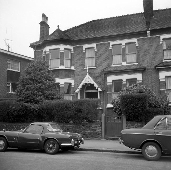 Exterior front view of No.3 Christchurch Road, Crouch Hill, London, which was accommodation used by Ian Ball. 923-Archive-pa165834-69 Ref #: PA.19319597  Date: 17/05/1974