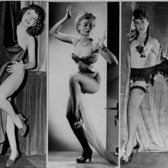 1953: Strippers Margie Hart, Lili St. Cyr and Gypsy Rose Lee Are Showcased at Boston's Old Howard Theater