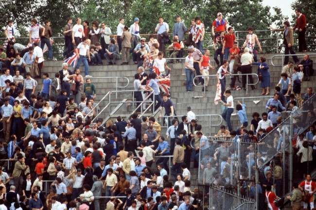 Soccer - European Championship - Group Two - England v Belgium England fans riot in Turin  Date: 12/06/1980