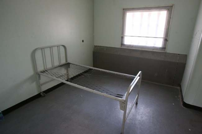 Cell No. Eight in the Prison Hospital at the Maze / Long Kesh site near Lisburn where IRA Hunger stiker Bobby Sands died in 1981.