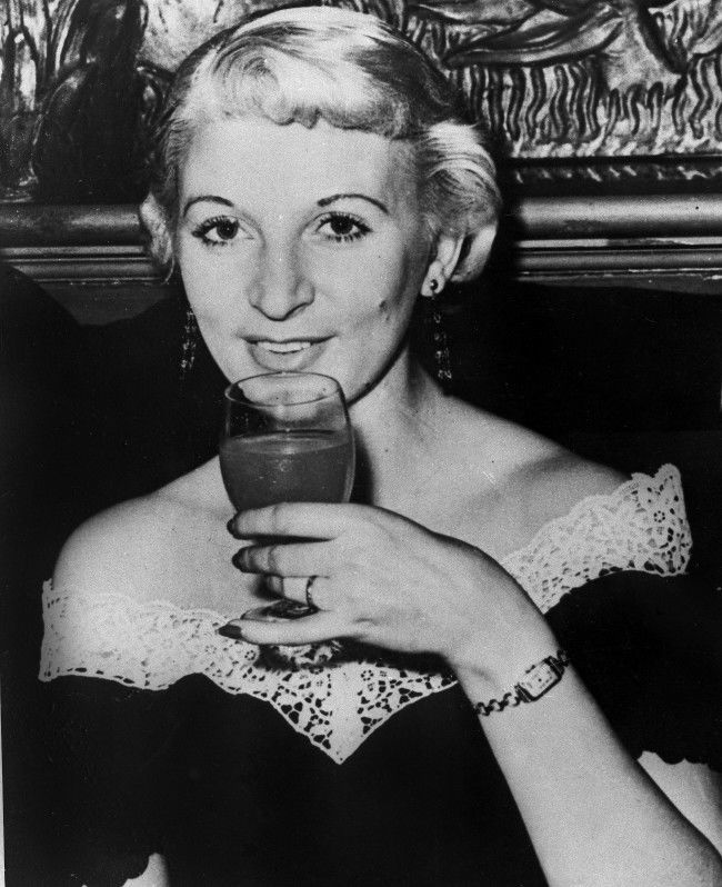 Platinum Blonde Model Ruth Ellis is shown in 1955 photo. It was announced at London's Old Bailey Court June 21, 1955 to sentenced to death Ellis for the murder of racing driver David Blakely, 25. The prosecution alleged that she fired six shots at Blakely, killing him outside a public house at Hampstead, North London, on Easter in evening on Sunday evening. Mrs. Ellis twice-married and mother of two children is not to appeal against the verdict. Friends are considering collecting signatures for an petition for reprieve. Blakely was said in court to have been having an affair with Mrs. Ellis and to have wanted to bring it to an end. (AP Photo)
