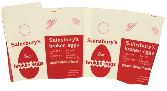 Broken eggs packaging, 1965