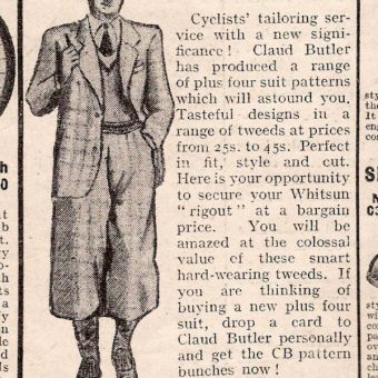 1936: Claud Butler Cycling Tweed Suits For Whitsun