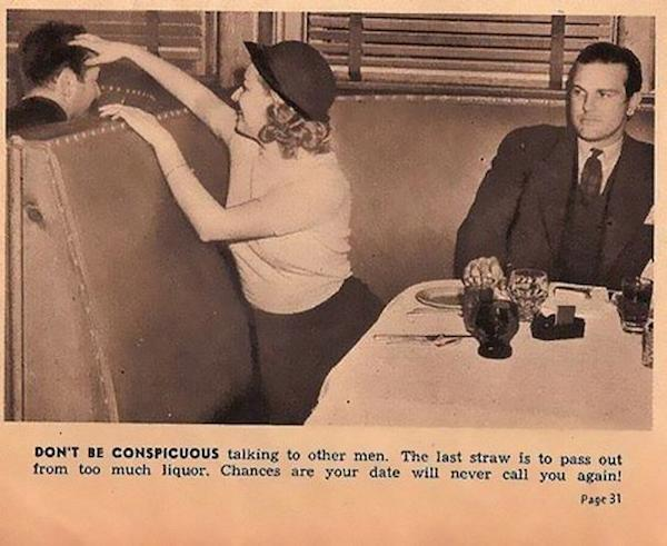 Sexist dating tips from 1938