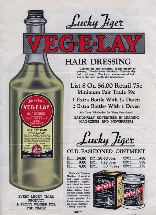 1955 Hair Tonic Advert Lucky Tiger Gets The Gals Flashbak