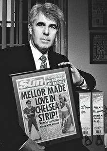 Max Clifford with David Mellor Sun cover