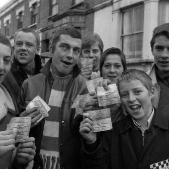 QPR Fans Outside Loftus Road With Their Tickets For The Match Against Chelsea In 1970