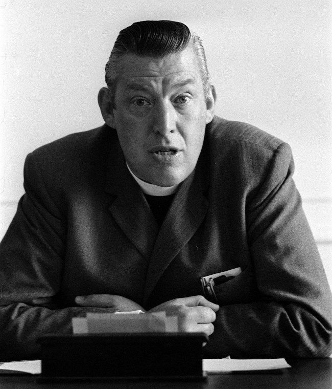 The Reverend Ian Paisley during a press conference in Stormont, Northern Ireland.