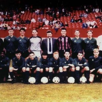 Manchester United Balls: Ryan Giggs Plays For Salford Boys