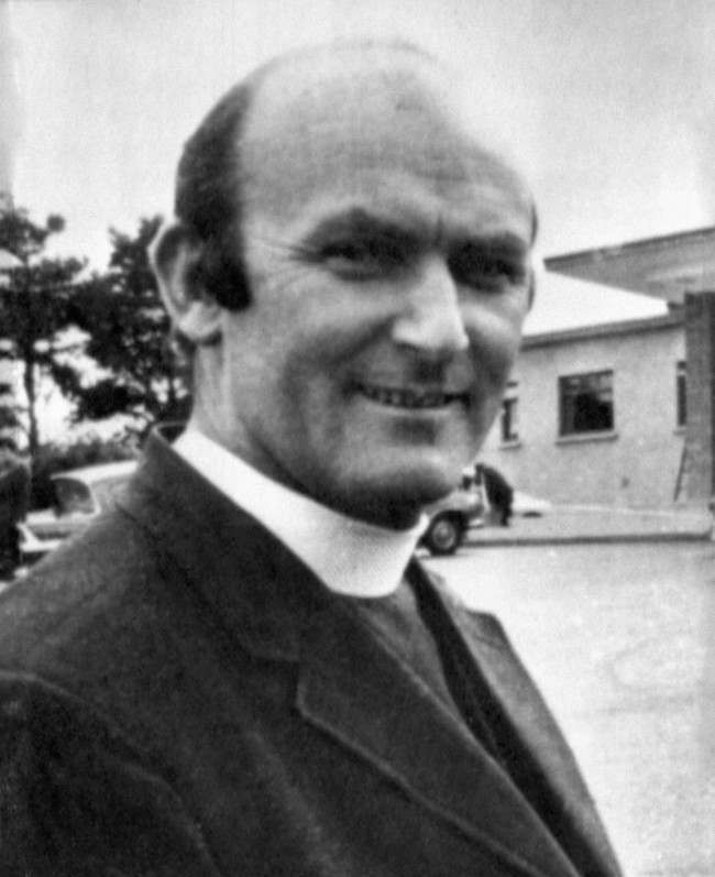 Father Hugh Mullan, 40, of St John's Presbytery, Falls Road, the priest who was shot and killed when administering the last rites to a casualty in riots near the Ballymurphy estate earlier today. Date: 10/08/1971