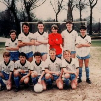 Manchester United Balls: Ryan Giggs Plays For Manchester City Boys In 1989