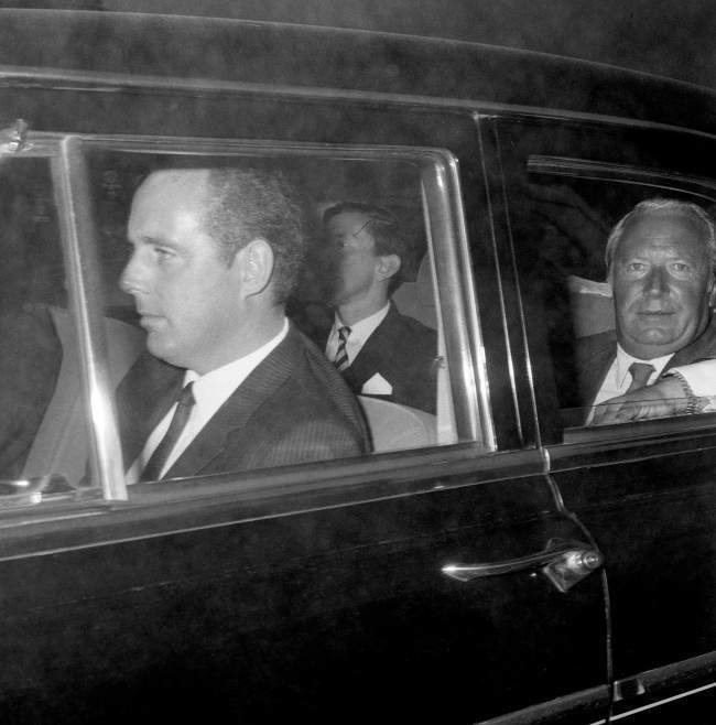 Prime Minister Edward Heath arriving at Chequers for a review of the Ulster situation.
