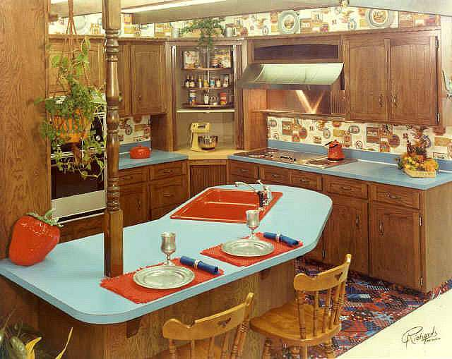 Those fabulous and frightening 1970s kitchens flashbak for 70s style kitchen cabinets