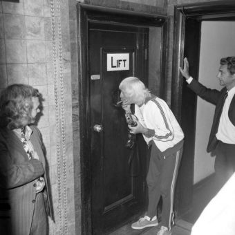 Jimmy Savile Blows Smoke At Children Stuck Inside A Broken-Down Lift In 1973