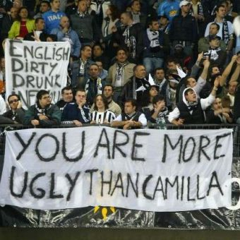 Epic Banners: Juventus Fans Taunt Liverpool: 'You Are More Ugly Than Camilla'