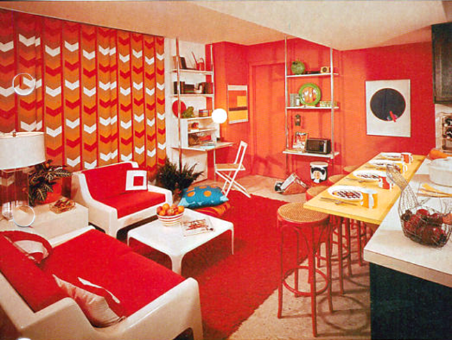 Seeing red in the 1970s a decade s fixation with the for Home decor 1970s