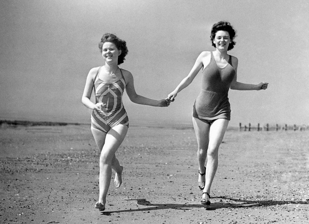 The beach at Skegness, 1948.