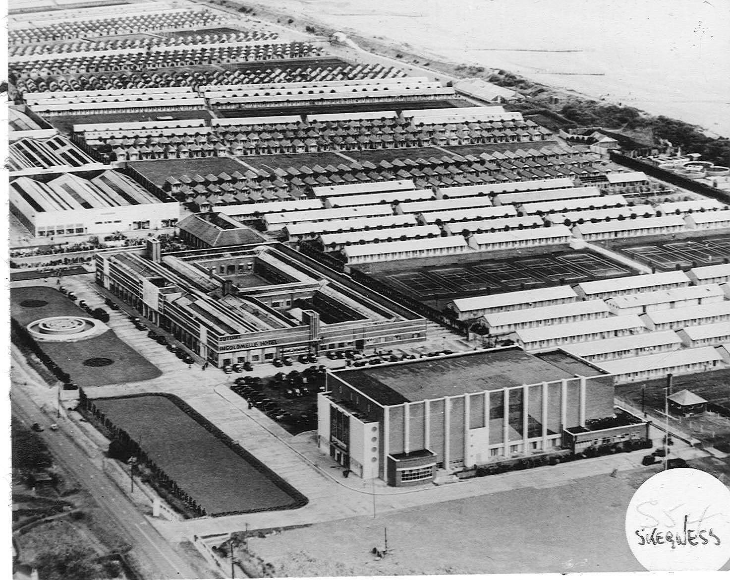 Aerial view of the Skegness Butlin's.