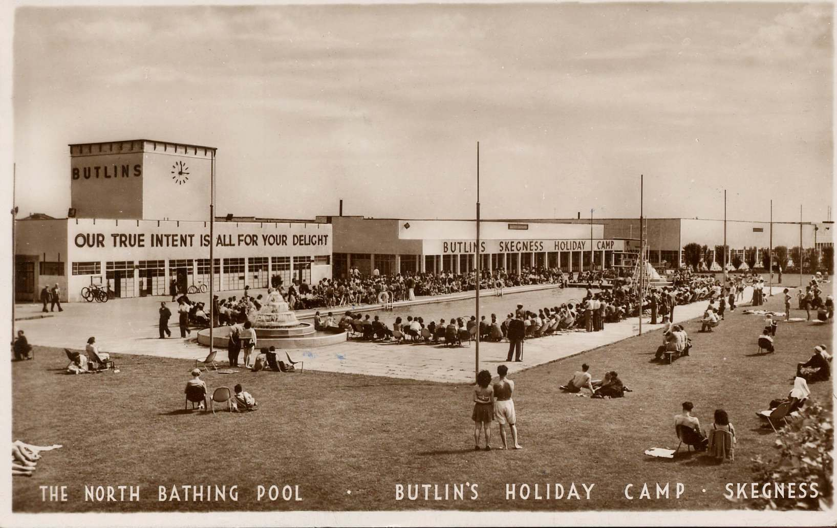 Butlins Skegness postcard Our True Intent