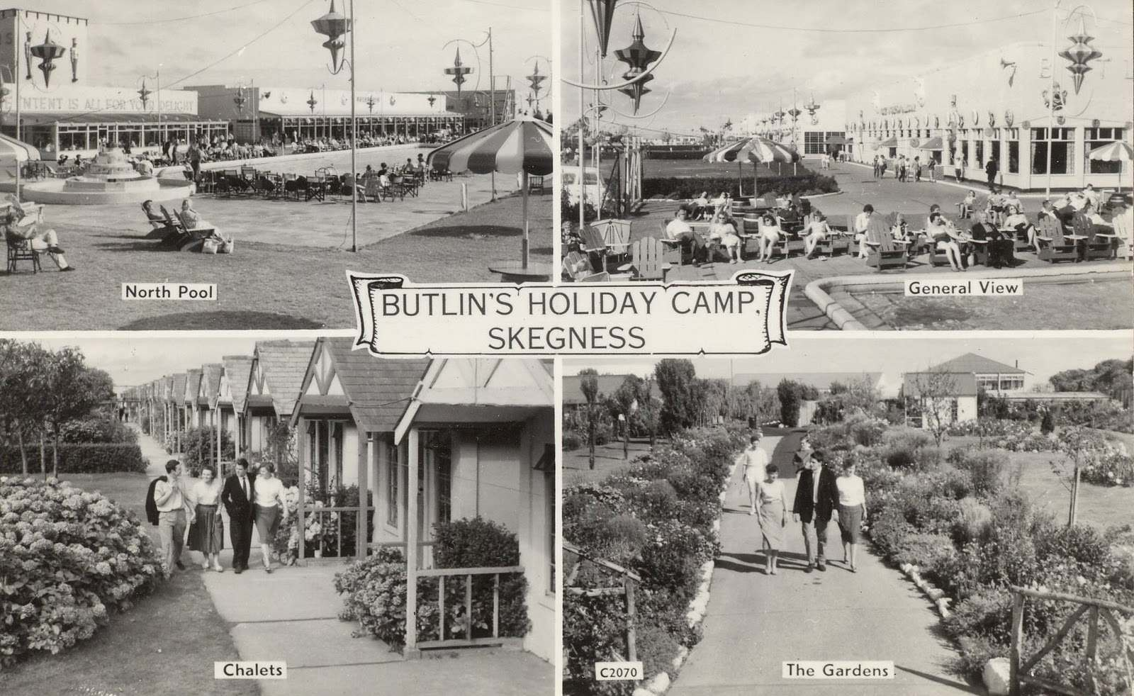 Butlins Skegness postcard