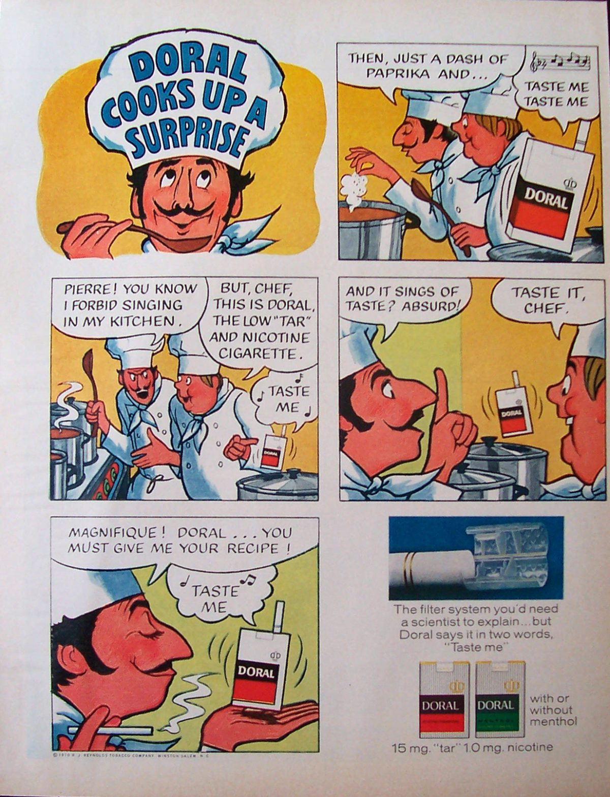 Doral cigarettes advertisement