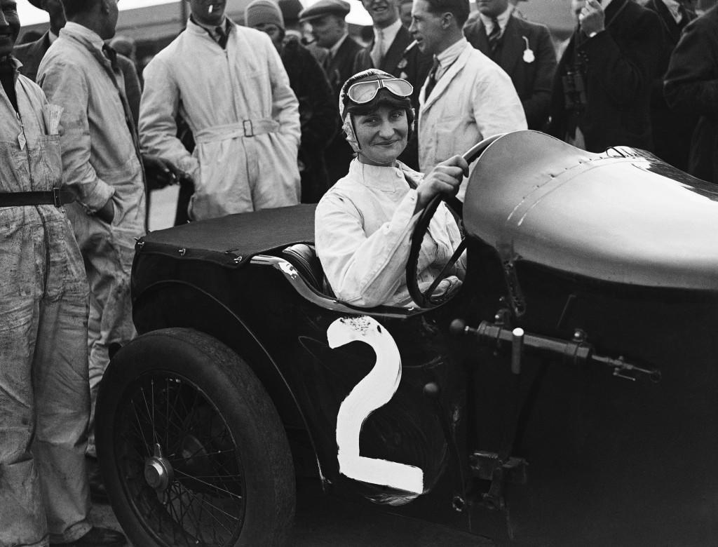 "Elsie Wisdom at Brooklands in 1930. Elsie ""Bill"" Wisdom, confounded the Brooklands Automobile Racing Club sceptics to master the unpredictable 7.2-litre Leyland-Thomas and who won Britain's first 1,000-mile race at an average speed of 84.41mph, partnered by Joan Richmond."