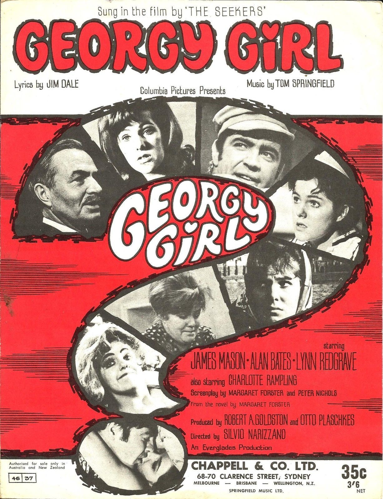 Georgy Girl poster Seekers