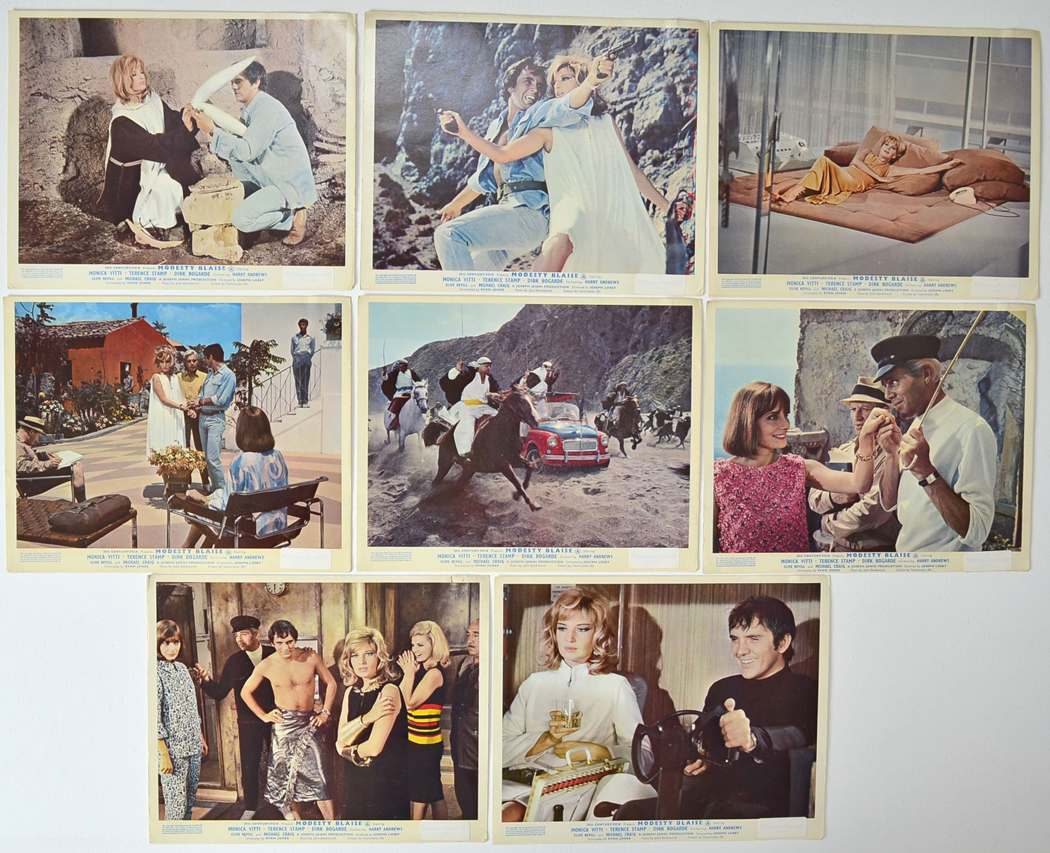 Modesty Blaise lobby card collection