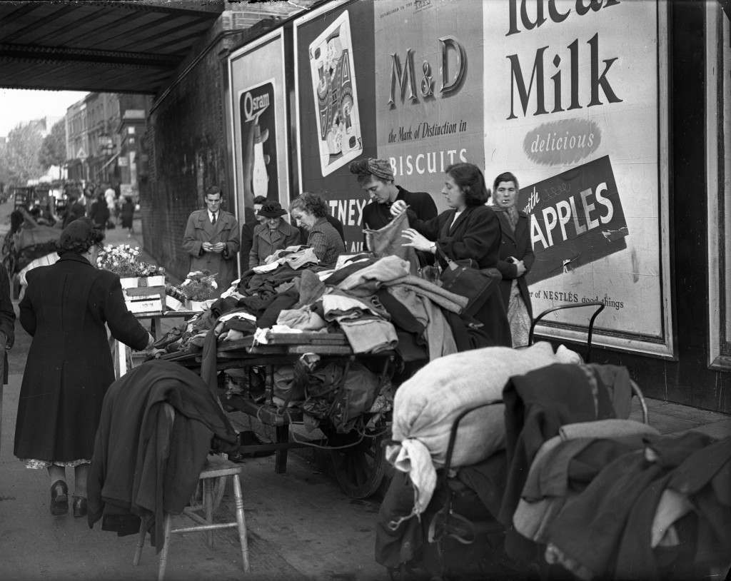 Portobello Road Market, Notting Hill London 1950