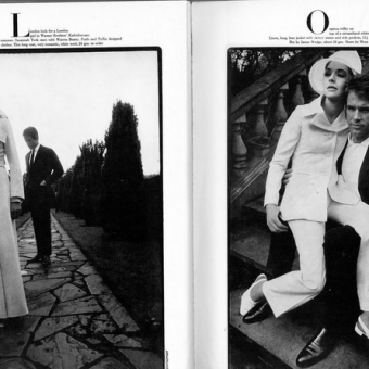 'A London look for a London girl' Susannah York and Warren Beatty in Vogue, 1966