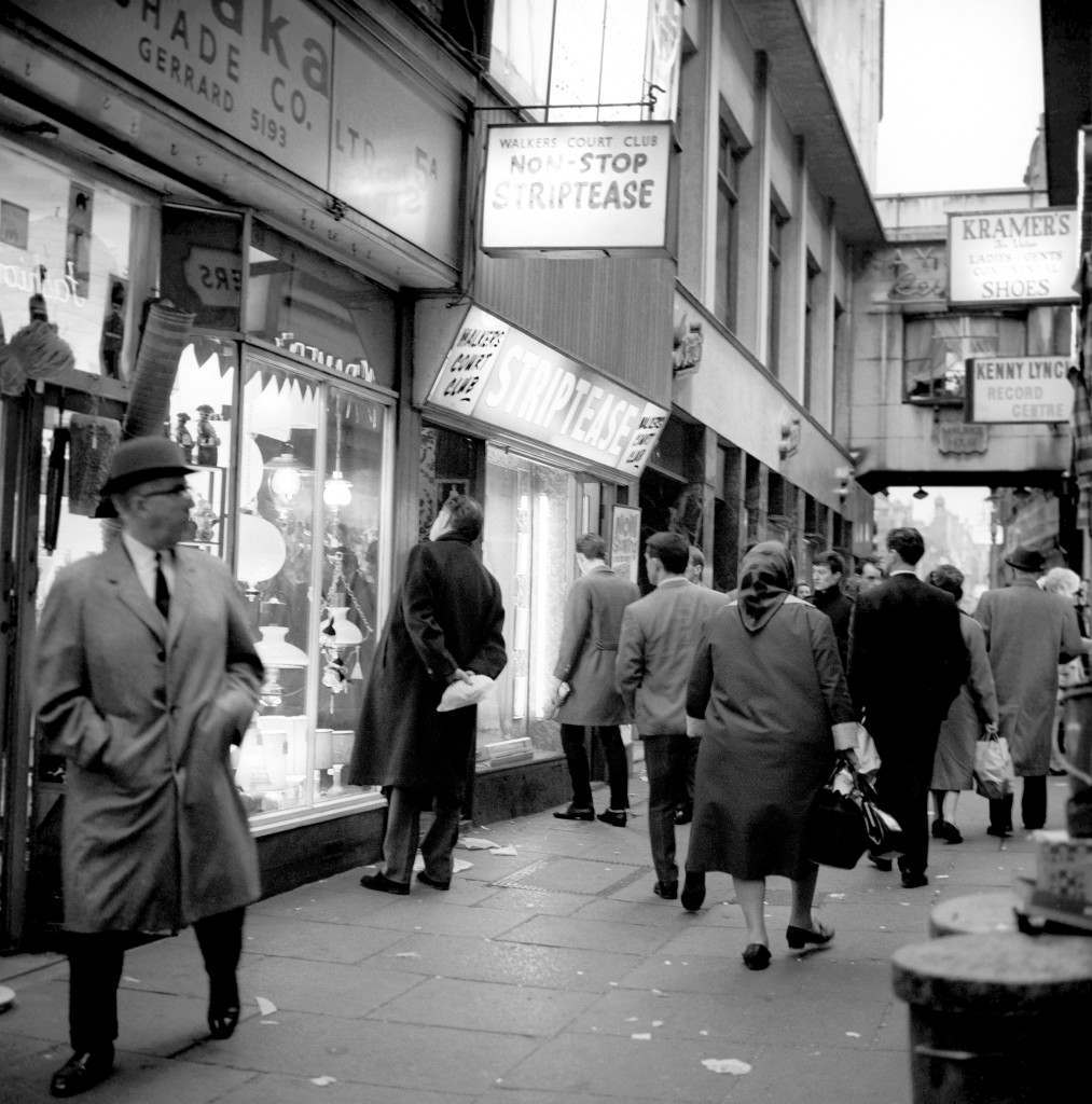 London Scenes - Soho - Walkers Court - 1966