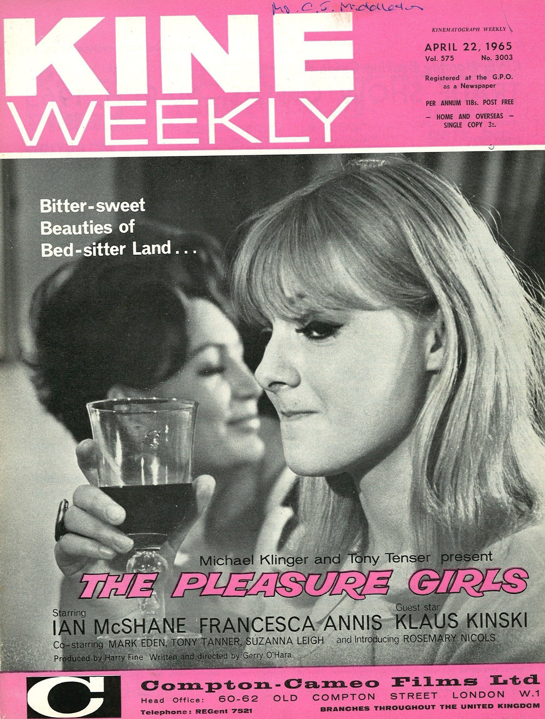 The Pleasure Girls 1965 magazine cover