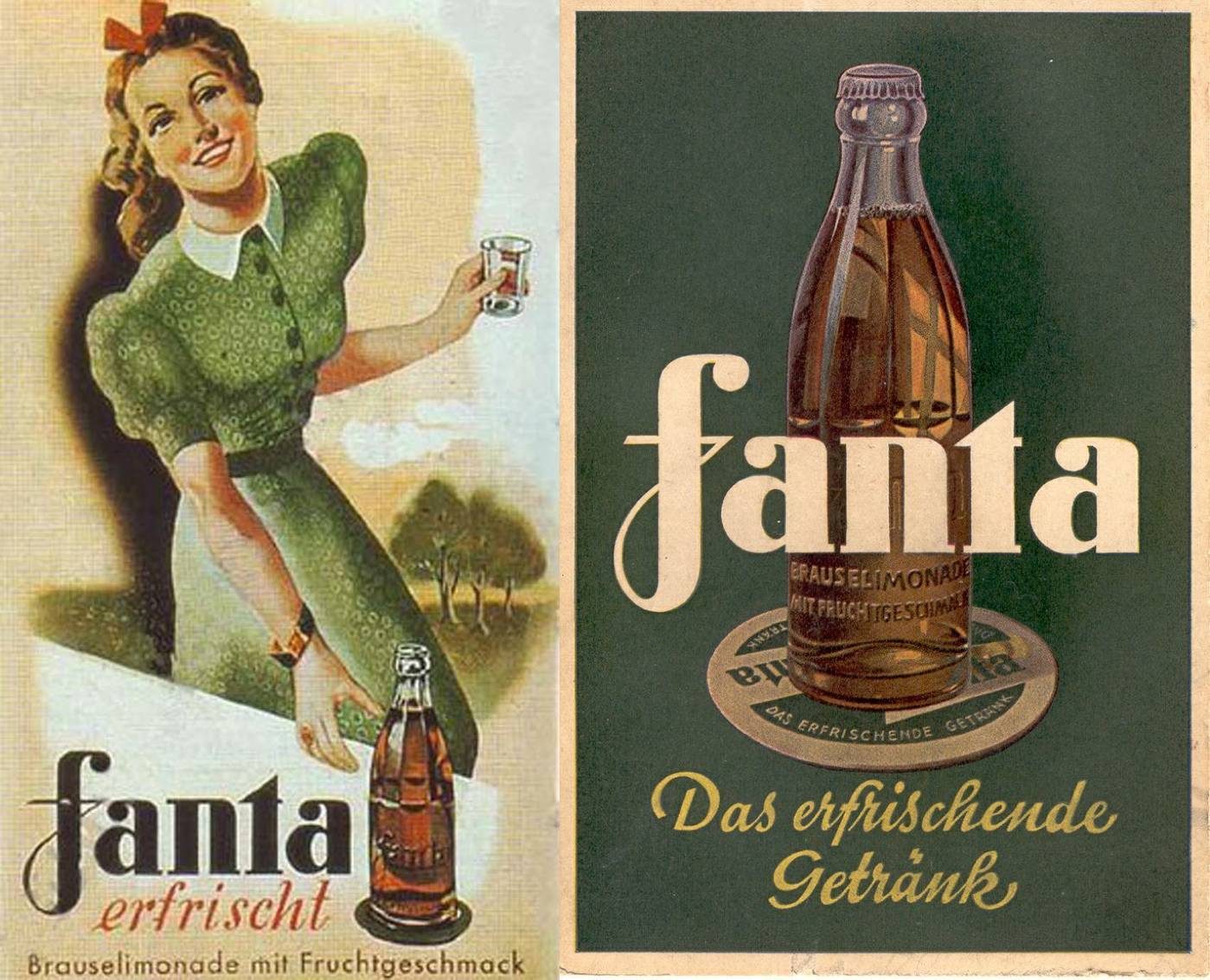 Fanta, the drink owned by Coca-Cola and invented in Nazi Germany.