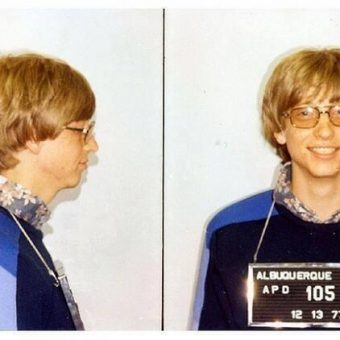Mug Shot: Bill Gates Arrested For Driving Without A License, 1977