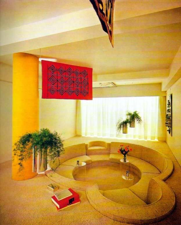 Chairs gone wild funky places to sit in the seventies for 70s living room furniture