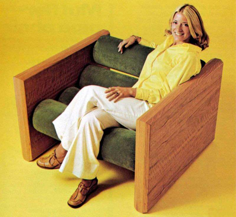seventies furniture. most of strange seating thus far was not found in your average seventies home households had standard variety chairs furniture p