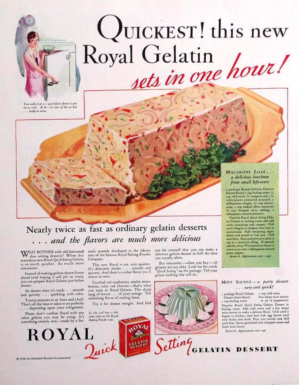 Macaroni Loaf from 1934