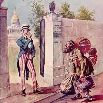 Chicago Cartoon From 1899 Shows Uncle Sam Turning Away The Stinking Jew