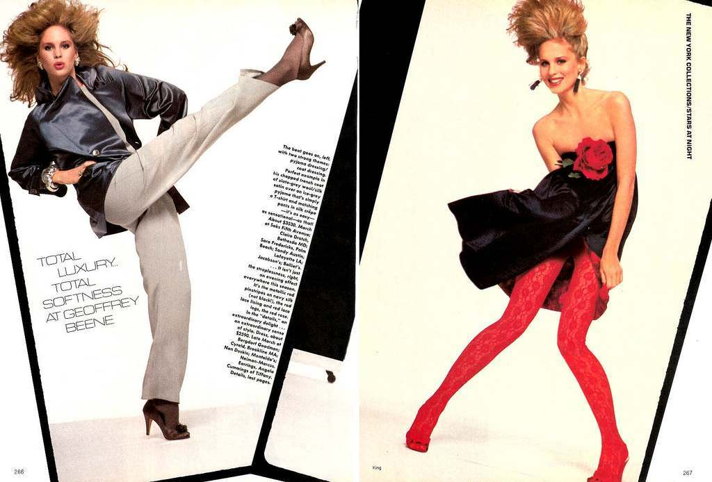1980s Vogue Fashion: Big Hair, Wind And A Live White Mouse