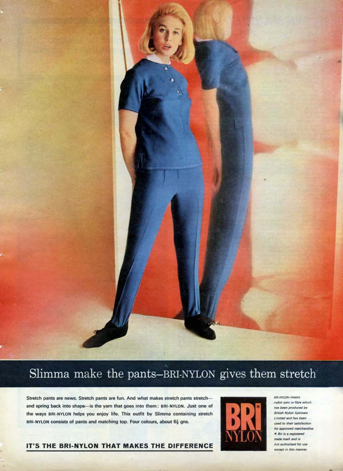 Bri Nylon Stretch Pants Flashbak