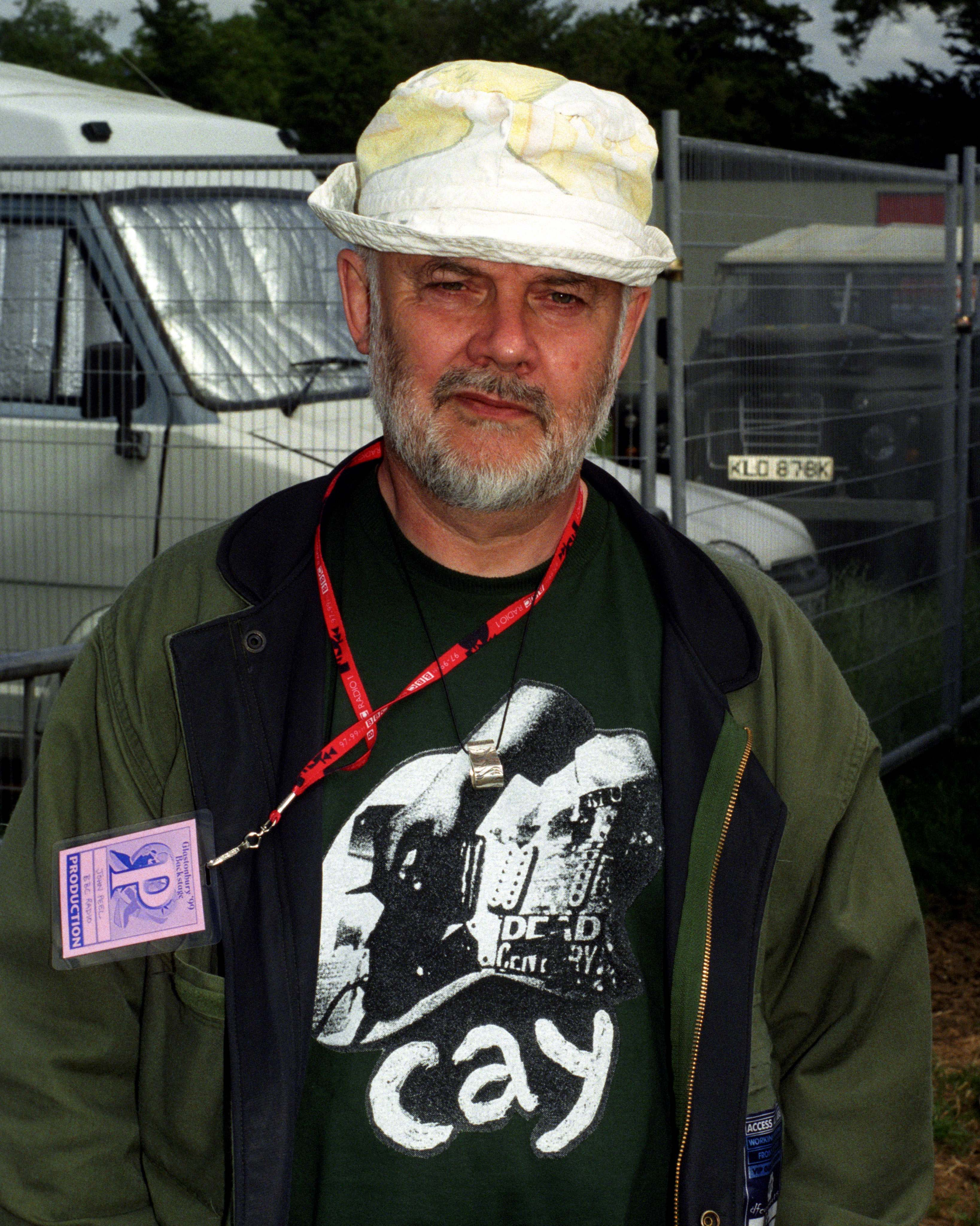 John Peel at Glastonbury in 1999. A stage at the festival is now named after him.